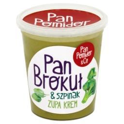 Zupa krem brokułowa ze szpinakiem