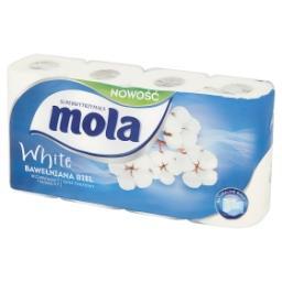 White Bawełniana Biel Papier toaletowy 8 rolek