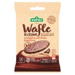 Wafle ryżowe z belgijską czekoladą deserową  (2 sztuki)