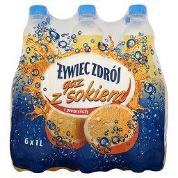 Gaz z sokiem z pomarańczy Napój gazowany 6 x 1 l
