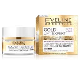 GOLD LIFT EXPERT Luksusowy multi-odżywczy krem-serum z 24k złotem 50+