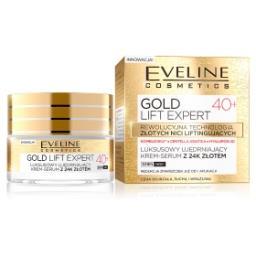 Gold Lift Expert Luksusowy ujędrniający krem-serum z 24K złotem 40+ dz/n