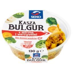 Kasza bulgur z miruną i warzywami