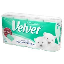 Łagodnie Seledynowy Papier toaletowy 8 rolek