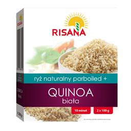 Ryż naturalny parboiled + Quinoa biała 200 g (2 torebki)