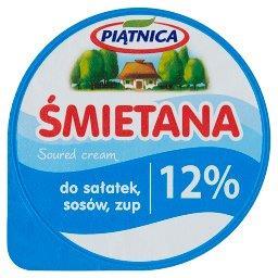 Śmietana do sałatek sosów zup 12%