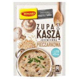 Zupa z kaszą jęczmienną pieczarkowa