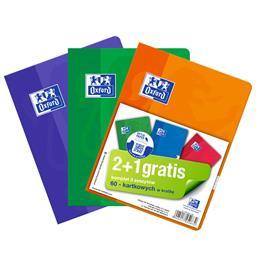 Komplet zeszytów A5 60 kartek kratka 2+1