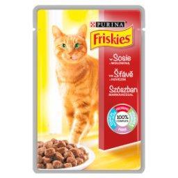 Karma dla kotów z wołowiną w sosie