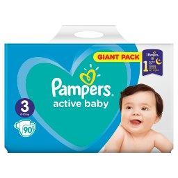 Active Baby Rozmiar 3, 90 pieluszek, 6-10 kg