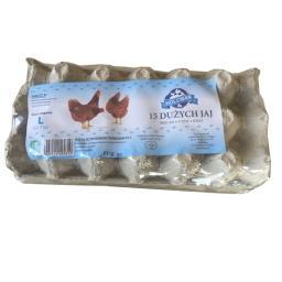 Jaja wiejskie L 15 sztuk klatkowe
