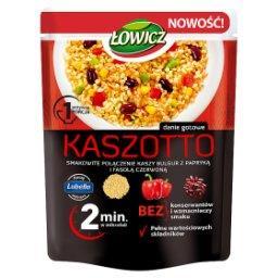Kaszotto kasza bulgur z papryką i czerwoną fasolą
