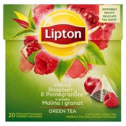 O smaku Malina i granat Herbata zielona aromatyzowan...