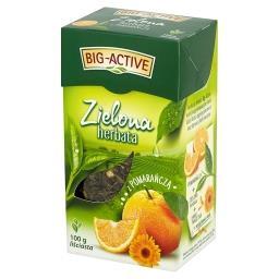 Zielona herbata z pomarańczą liściasta
