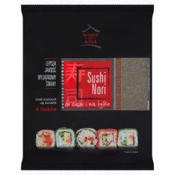 Sushi Nori Listki prażonych alg morskich 6 sztuk