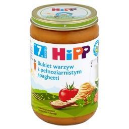 BIO Bukiet warzyw z pełnoziarnistym spaghetti po 7. miesiącu
