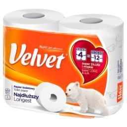 Najdłuższy Papier toaletowy 4 rolki