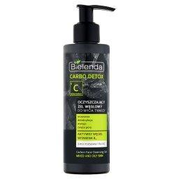 Carbo Detox Oczyszczający żel węglowy do mycia twarzy cera mieszana i tłusta