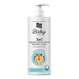 Baby Soft 3w1 Łagodny żel do mycia włosków i ciała 500 ml