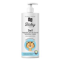 Baby Soft 3w1 Łagodny żel do mycia włosków i ciała 5...