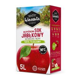 Sok Jabłkowy, naturalnie mętny, tłoczony na zimno 100% 5l
