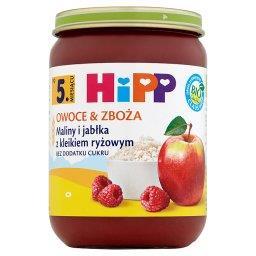 BIO Owoce & Zboża Maliny i jabłka z kleikiem ryżowym po 5. miesiącu