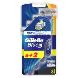 Blue3 Jednorazowe maszynki do golenia dla mężczyzn, 6+2 sztuki