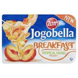 Jogobella Breakfast Jogurt brzoskwiniowy z chrupiącym musli tropikalnym