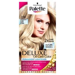 Deluxe Oil-Care Color Farba do włosów Srebrzysty blond 218
