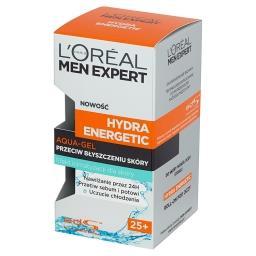 Men Expert Hydra Energetic 25+ Aqua-gel przeciw błyszczeniu skóry