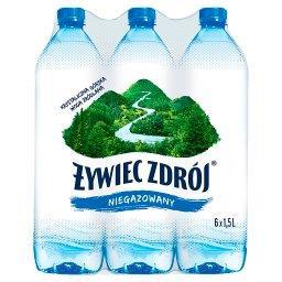 Niegazowany Woda źródlana 6 x 1,5 l