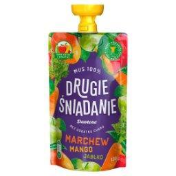 Drugie śniadanie Mus 100% marchew mango jabłko