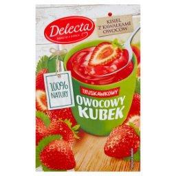 Owocowy kubek Kisiel o smaku truskawkowym