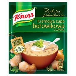 Rozkosze podniebienia Kremowa zupa borowikowa z cebulką