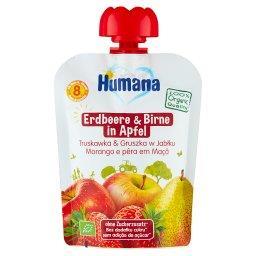 100% Organic Mus truskawka & gruszka w jabłku po 8. miesiącu