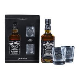 Jack Daniel's 40% 0,7l kartonik + 2 szklanki