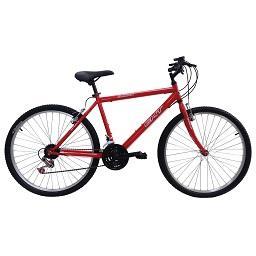 Bicicleta montanha Homem, Vermelha, roda 26, 18 velo...