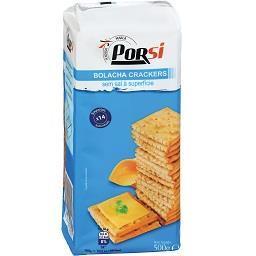 Bolachas cracker sem sal