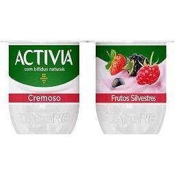 Iogurte activia cremoso frutos silvestres