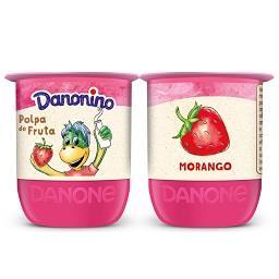 Iogurte danoninho de polpa de morango