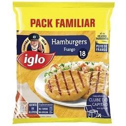 18 hamburguers de frango s/ glúten