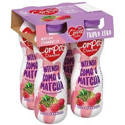 Iogurte magro líquido corpos danone framboesa e matc...