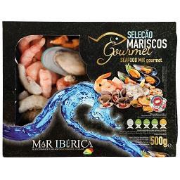 Seleção de mariscos gourmet