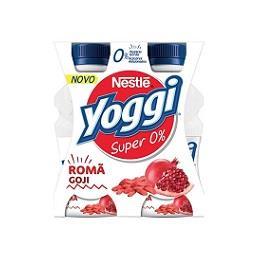 Iogurte líquido yoggi super 0% romã e goji