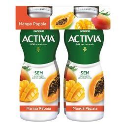 Activia líquido manga e papaia