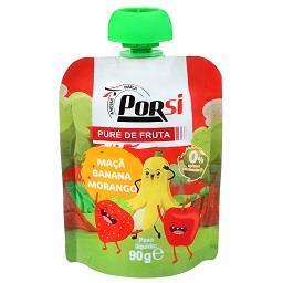 Saqueta de puré de fruta | maçã + banana + morango
