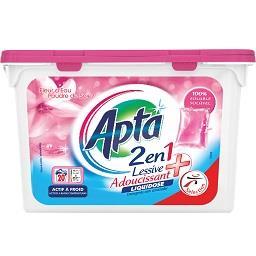 Detergente de máquina para roupa, 2 em 1, 20 cápsula...