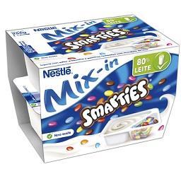 Iogurte mix-in smarties baunilha