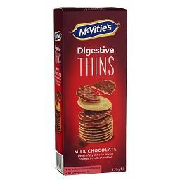 Mcvitie's digestive thins milk choc 150g