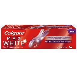 Dentifrico max white branqueia e protege